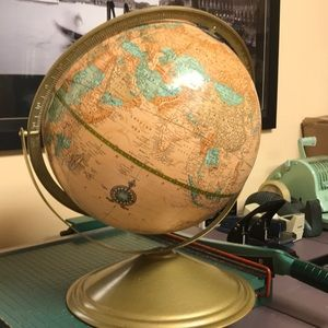 CRAM'S IMPERIAL Office - Vintage World Globe